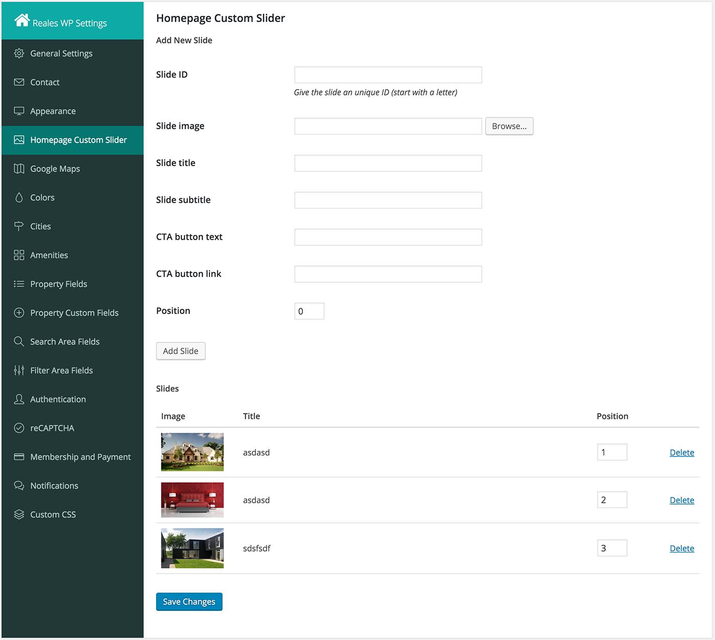 Google homepage themes gallery - Homepage Custom Slider Settings